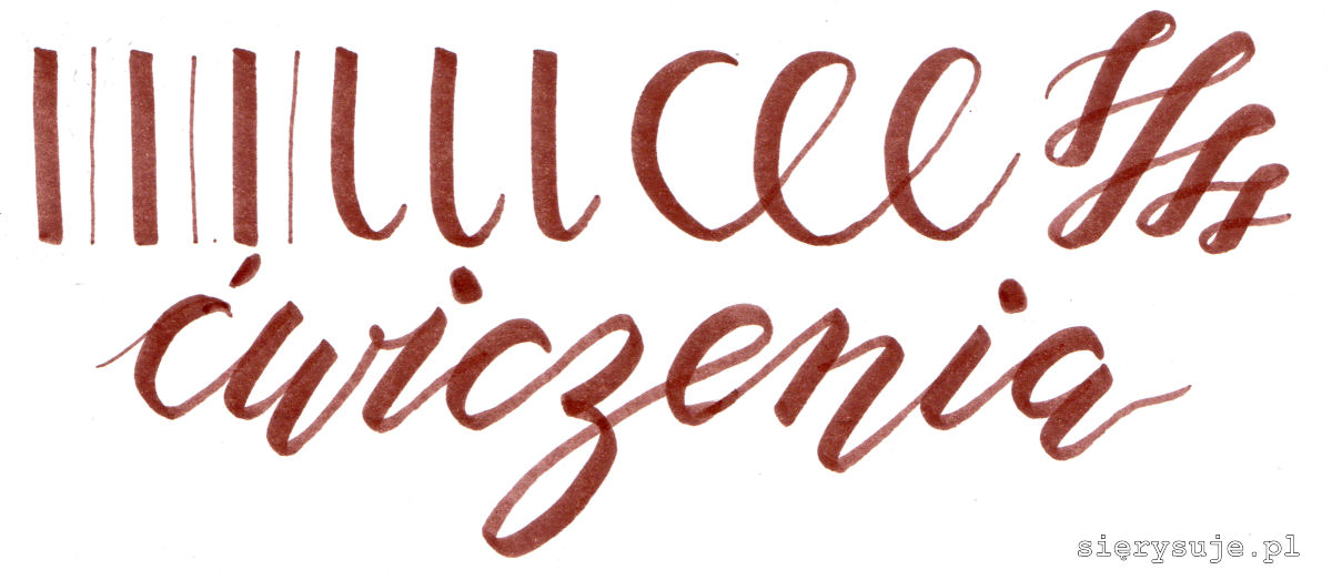 brush lettering ćwiczenia
