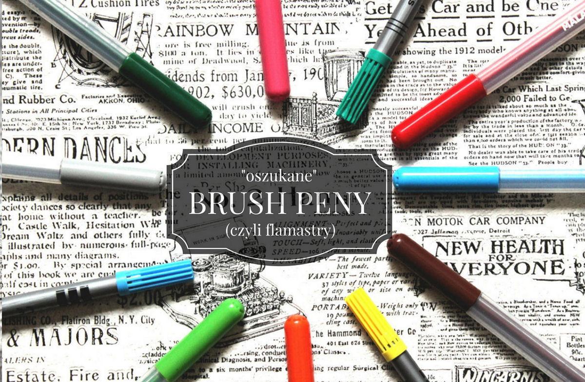 sierysuje.pl kaligrafowanie flamastrami brush lettering jak zacząć