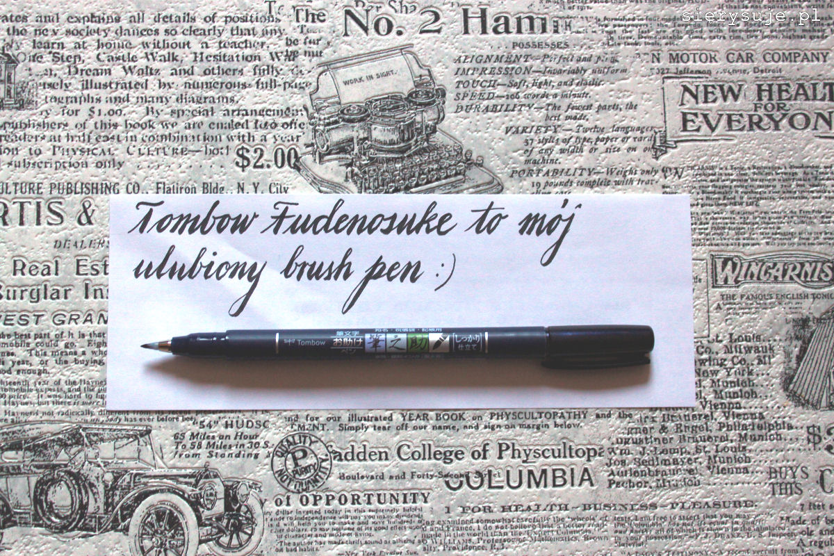 sierysuje.pl brush pen dla początkujących