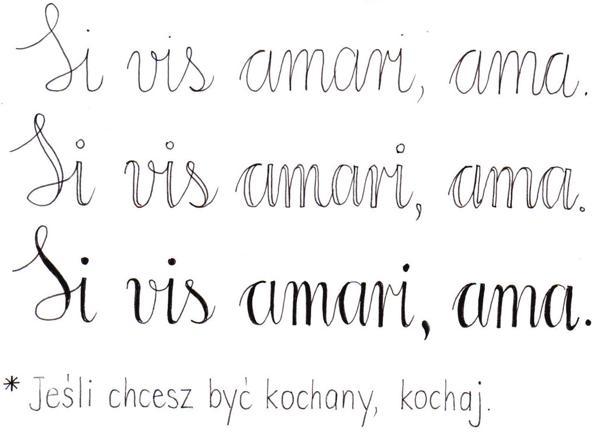 oszukana kaligrafia tutorial