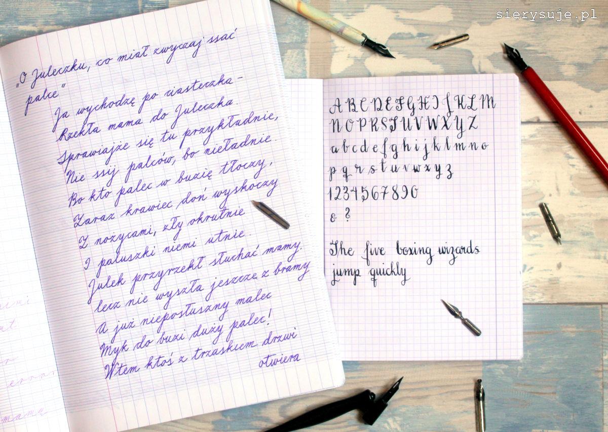 sierysuje.pl kaligrafia piękne pismo