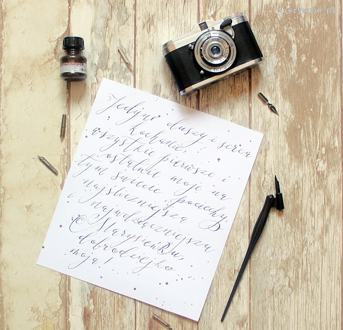 sierysuje.pl kaligrafia nowoczesna