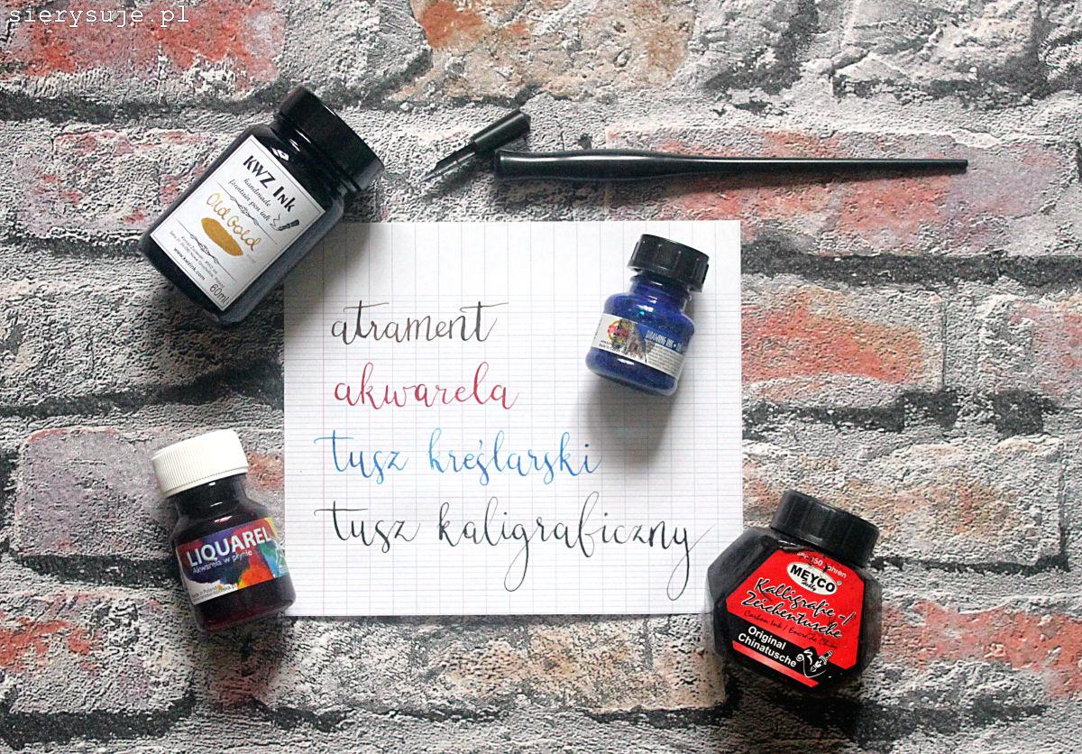 sierysuje.pl kaligrafia dla początkujących tusz atrament