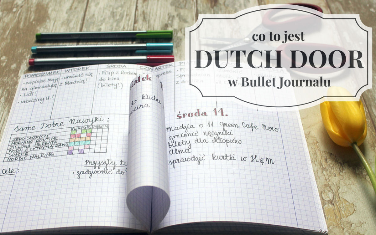 sierysuje.pl bullet journal dutch door