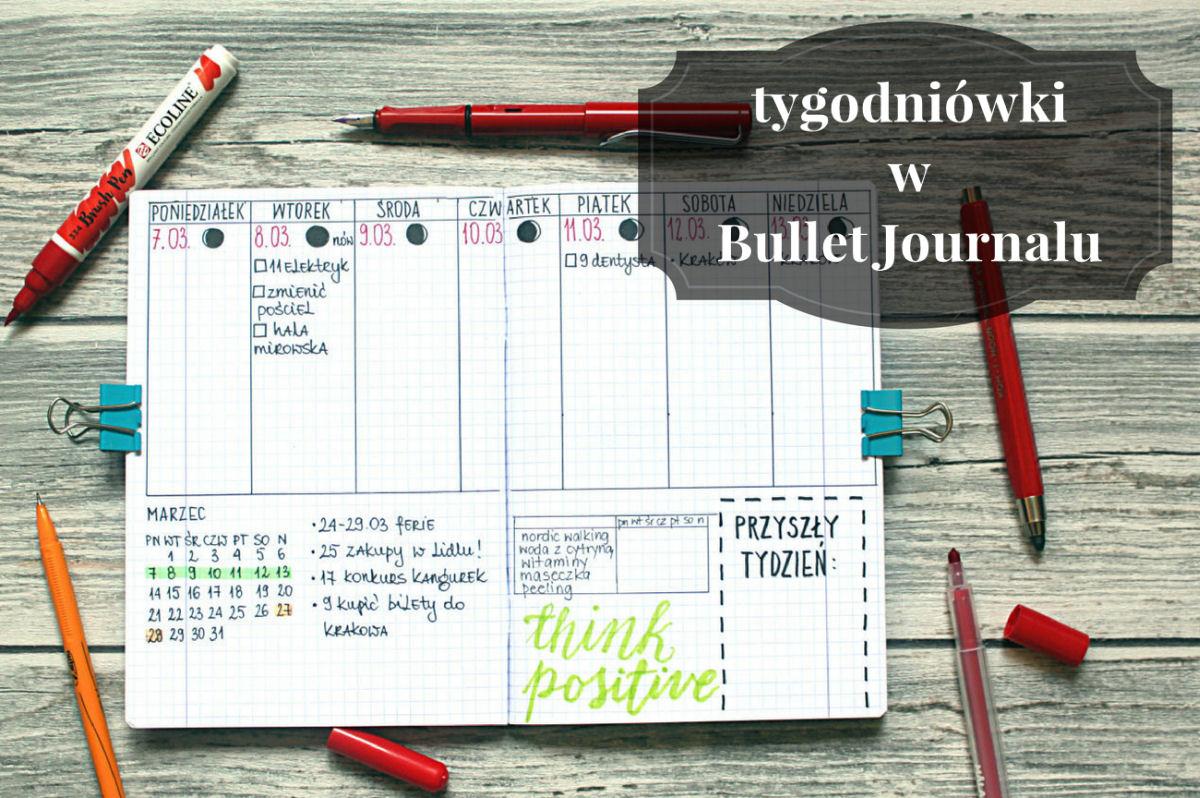 bullet journal tygodniówki
