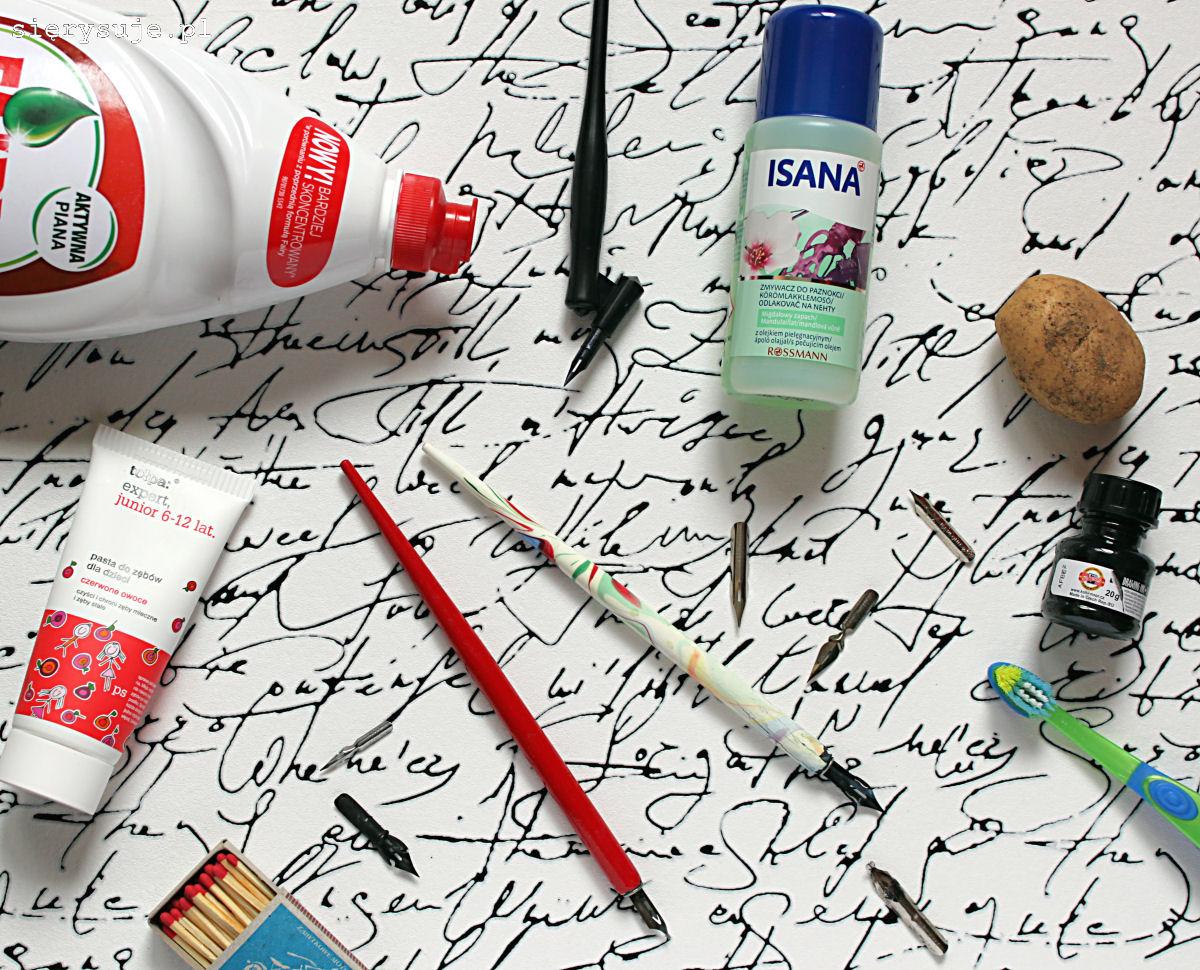 sierysuje.pl jak oczyścić nową stalówkę