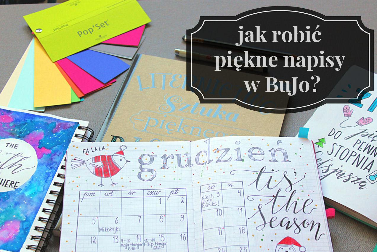sierysuje.pl piękne napisy Bullet Journal