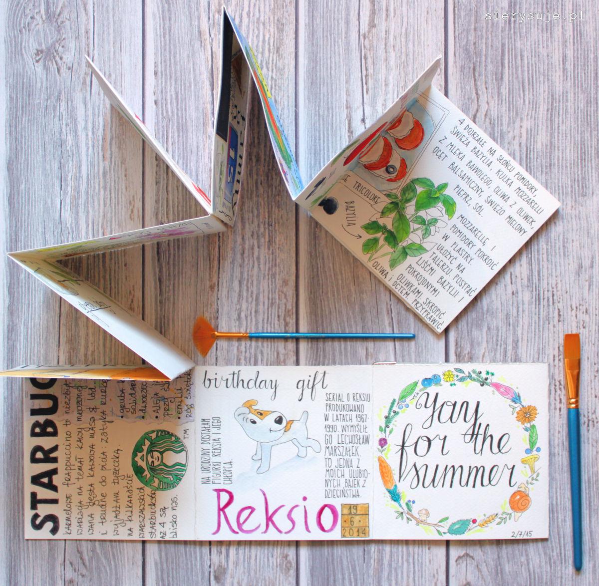 sierysuje.pl jak zrobić sketchbook notes do akwareli
