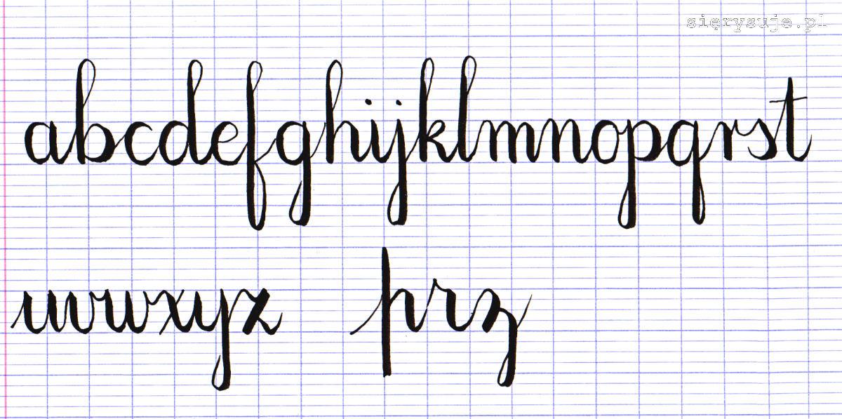 sierysuje.pl kaligrafia alfabet