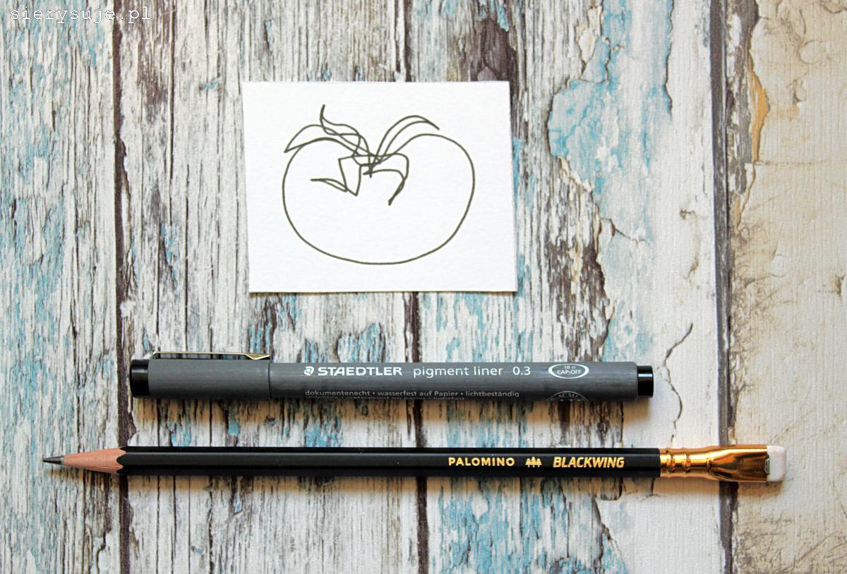 sierysuje.pl ćwiczenia rysowanie pomidor