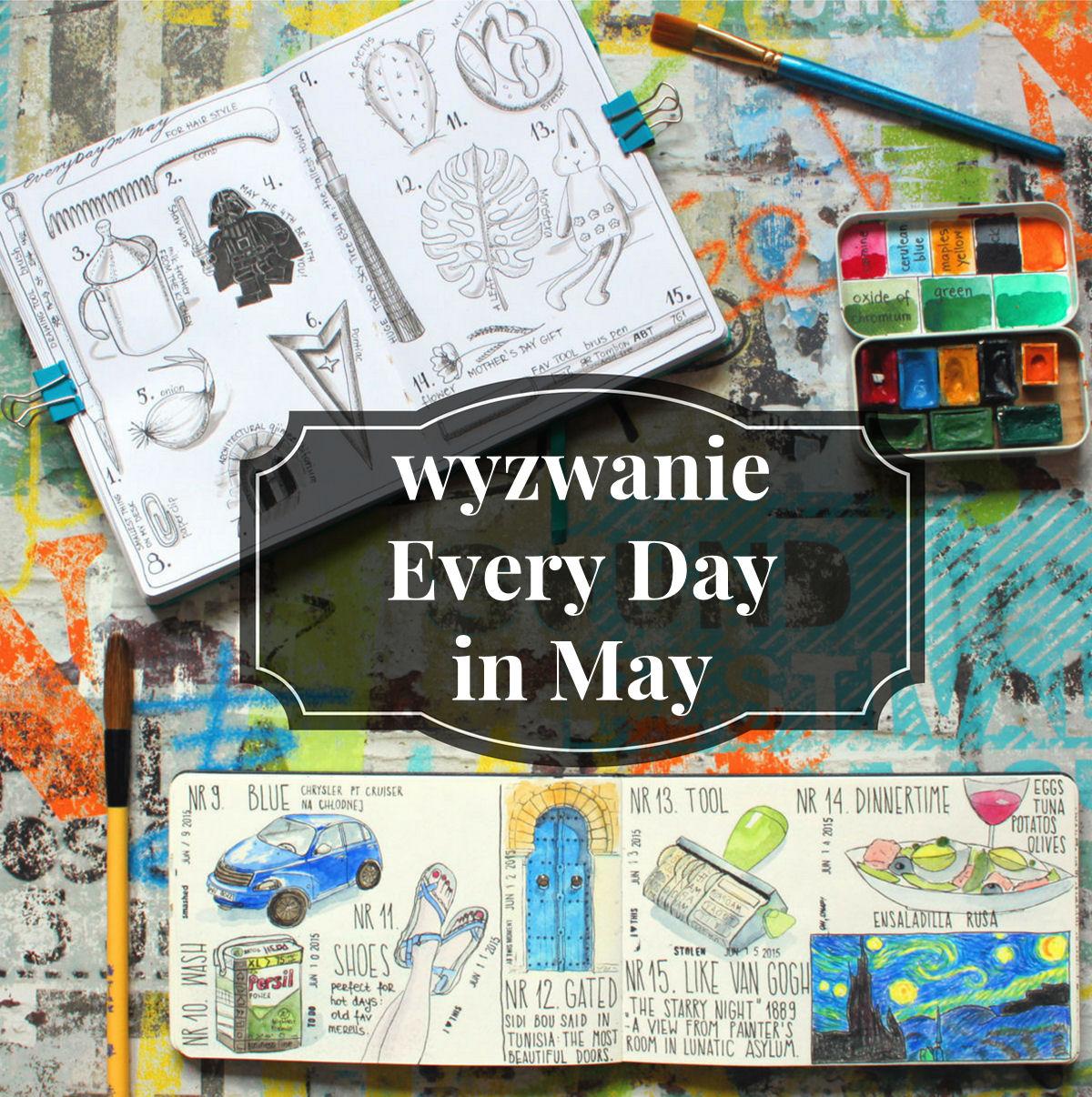 sierysuje.pl wyzwanie rysunkowe Every Day in May