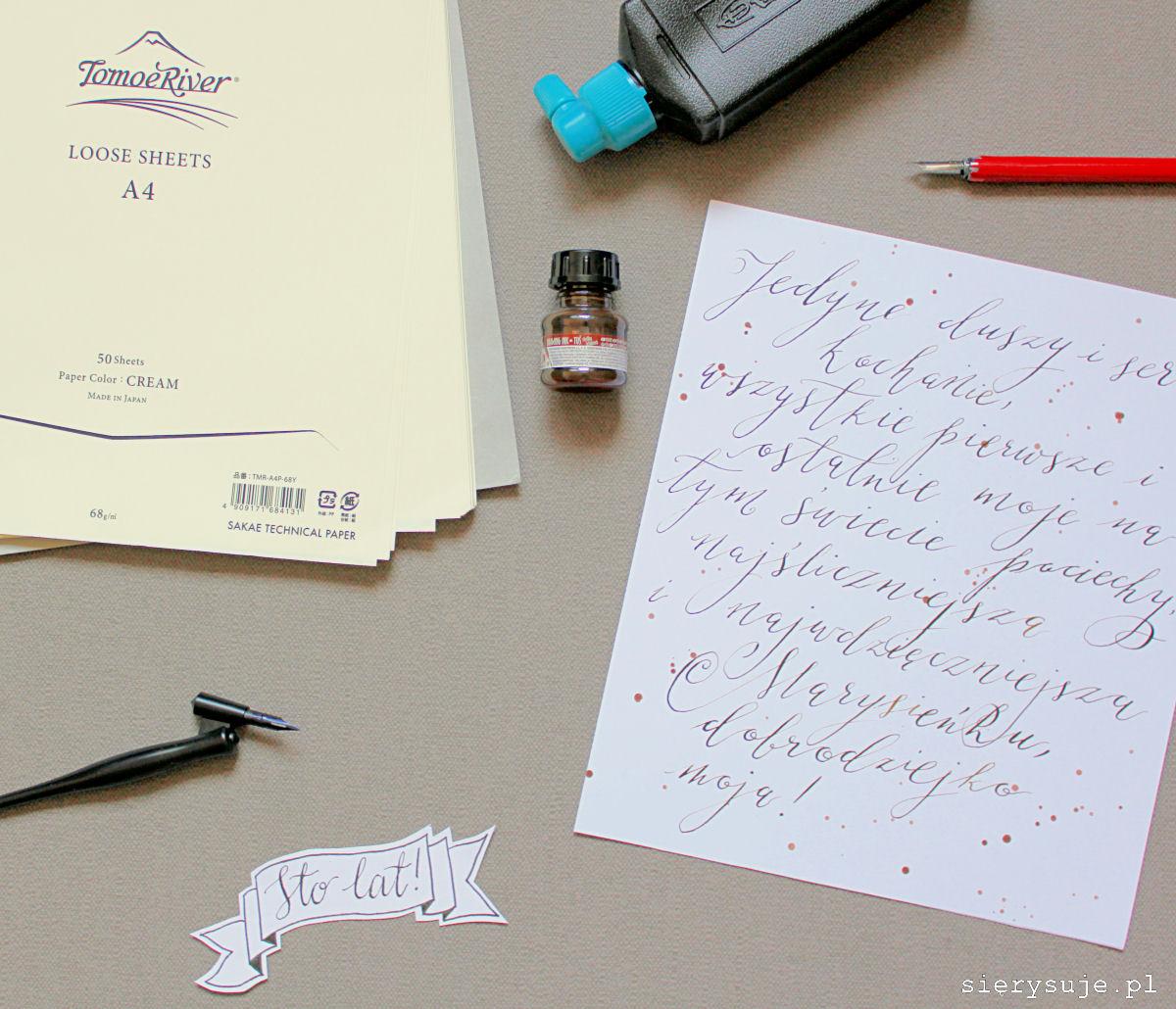 sierysuje.pl papier do ćwiczenia kaligrafii