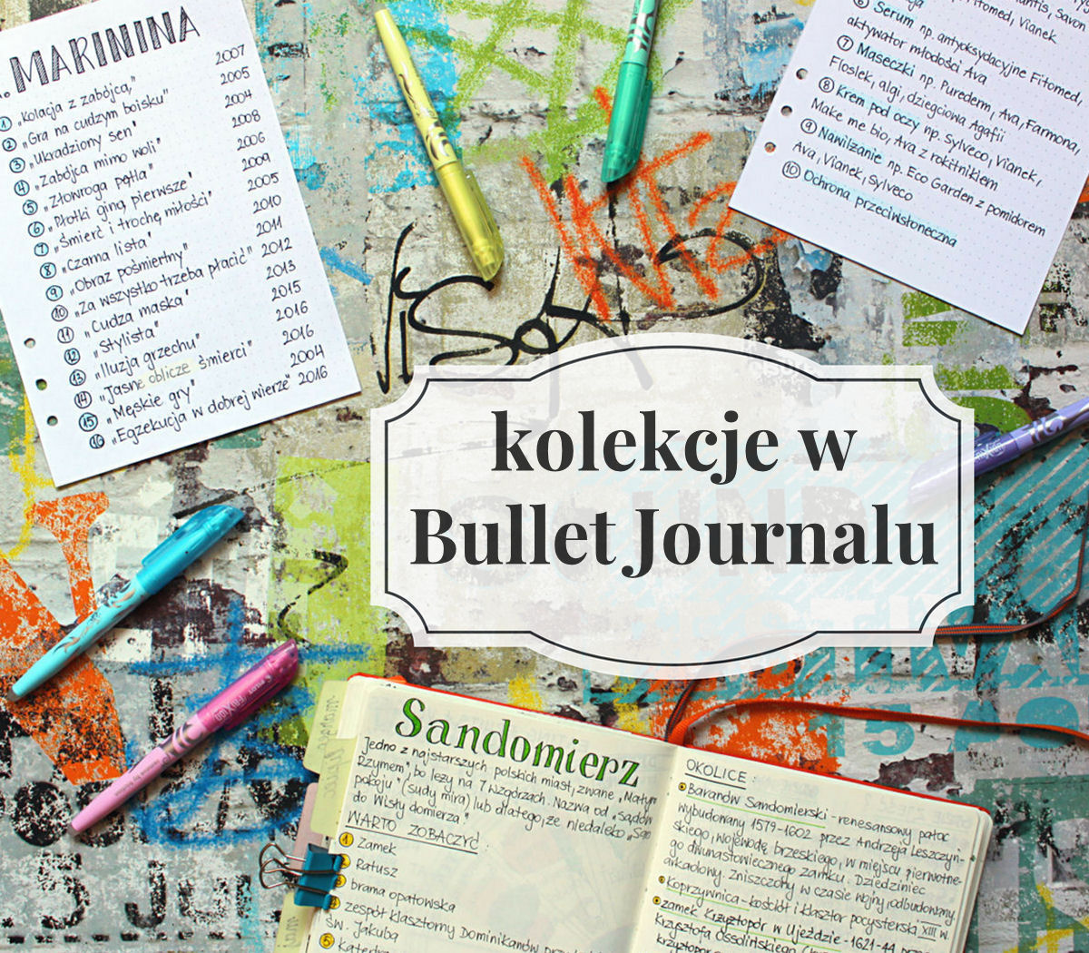 sierysuje.pl kolekcje w Bullet Journalu