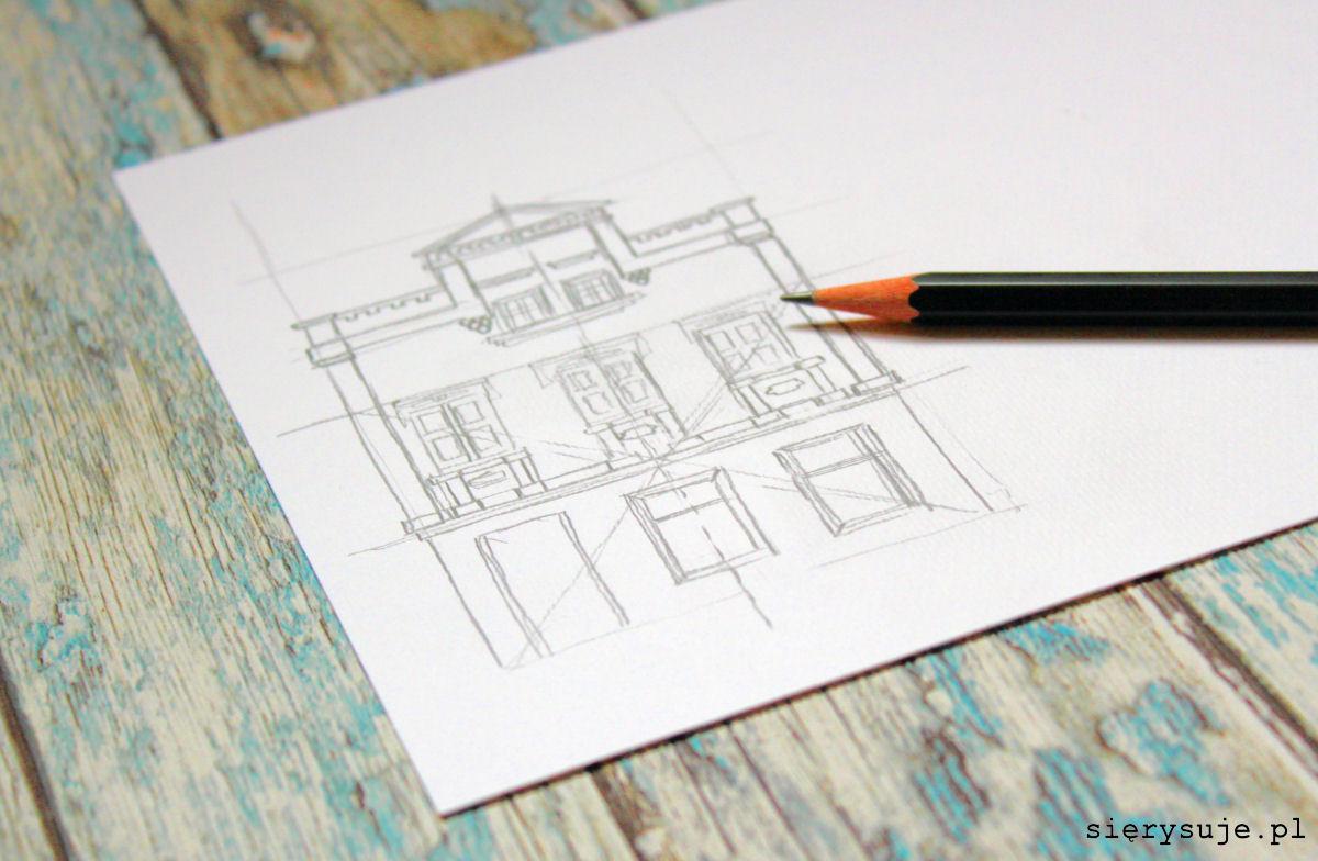 sierysuje.pl jak narysować budynek ołówkiem