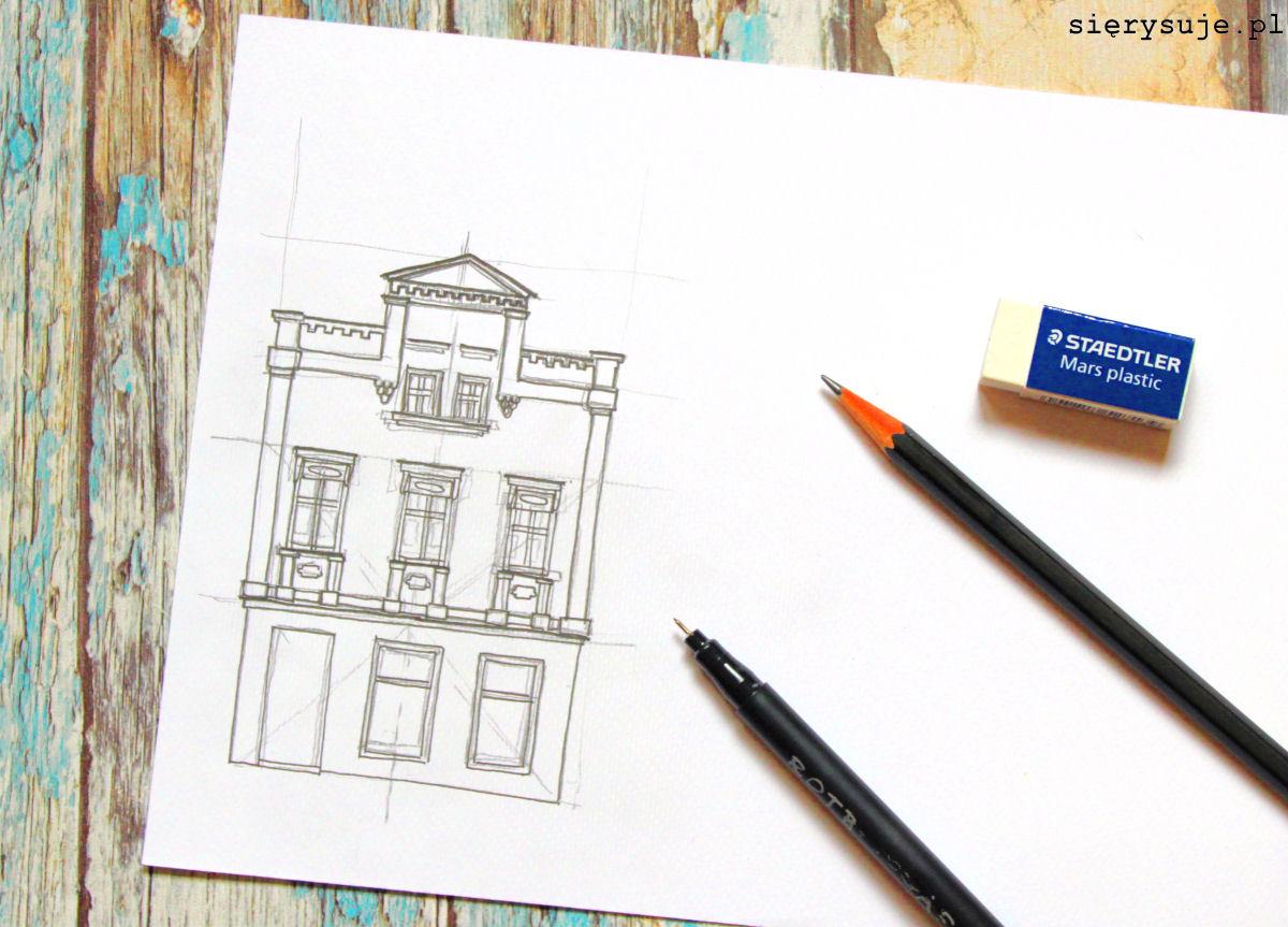 sierysuje.pl jak narysować budynek tutorial