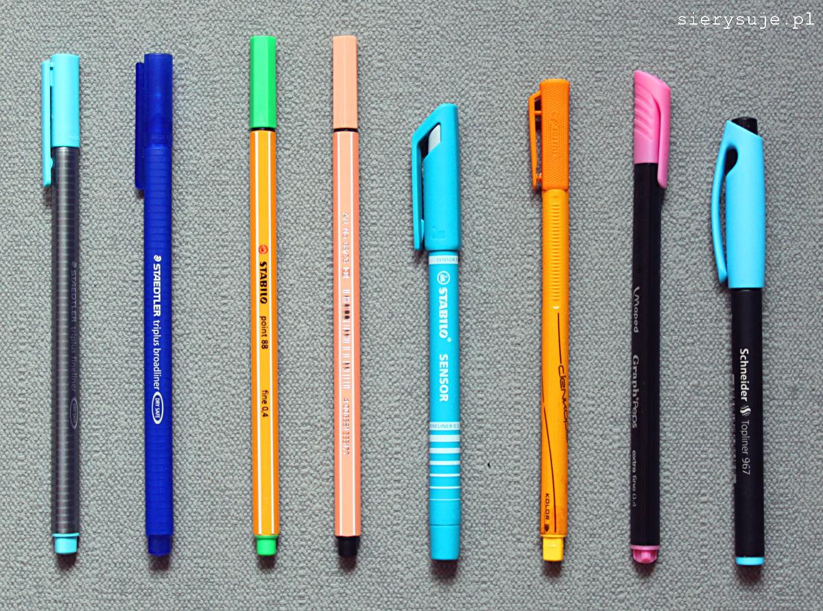 sierysuje.pl porównanie kolorowych cienkopisów