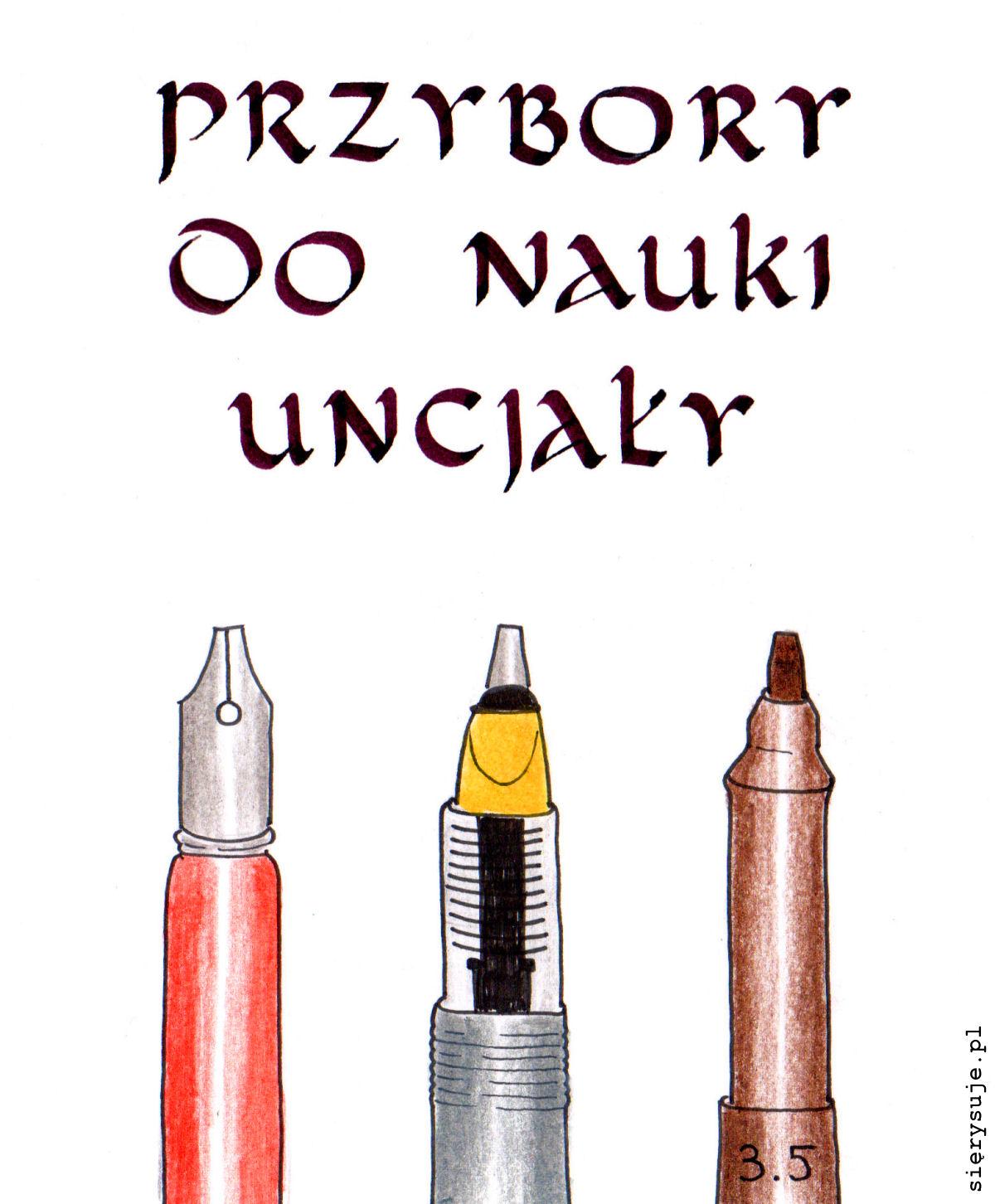sierysuje.pl przybory do kaligrafii