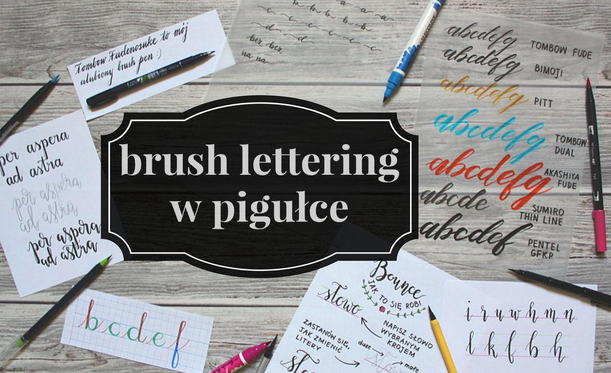sierysuje.pl brush lettering w pigułce