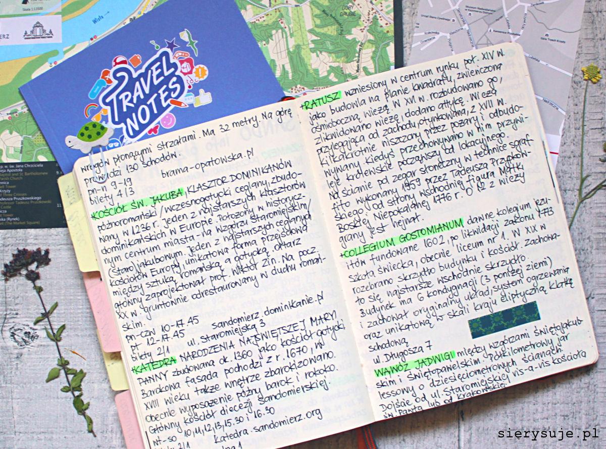 sierysuje.pl bullet journal wakacje urlop pamiętnik
