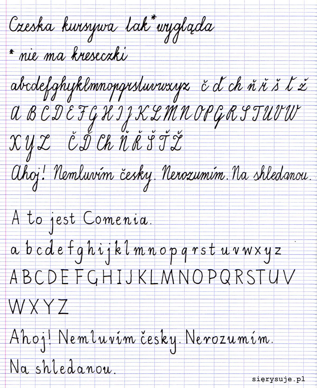 sierysuje.pl czeskie pismo szkolne Comenia