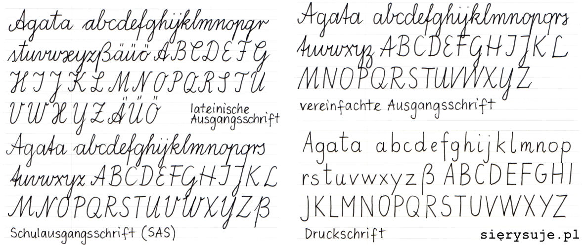 sierysuje.pl jak piszą dzieci w szkołach niemieckich