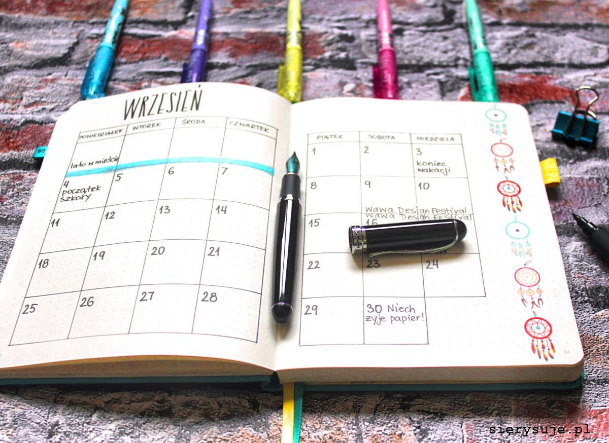 sierysuje.pl planowanie w bullet journalu