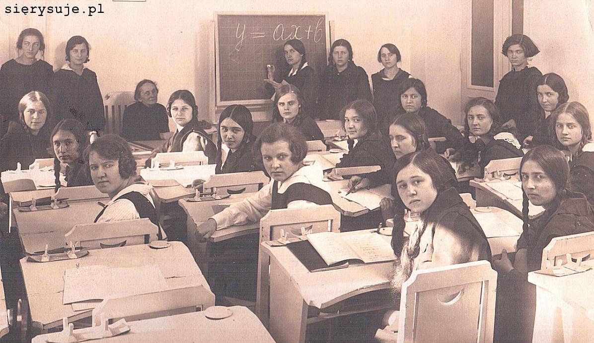 sierysuje.pl kaligrafia w przedwojennej szkole