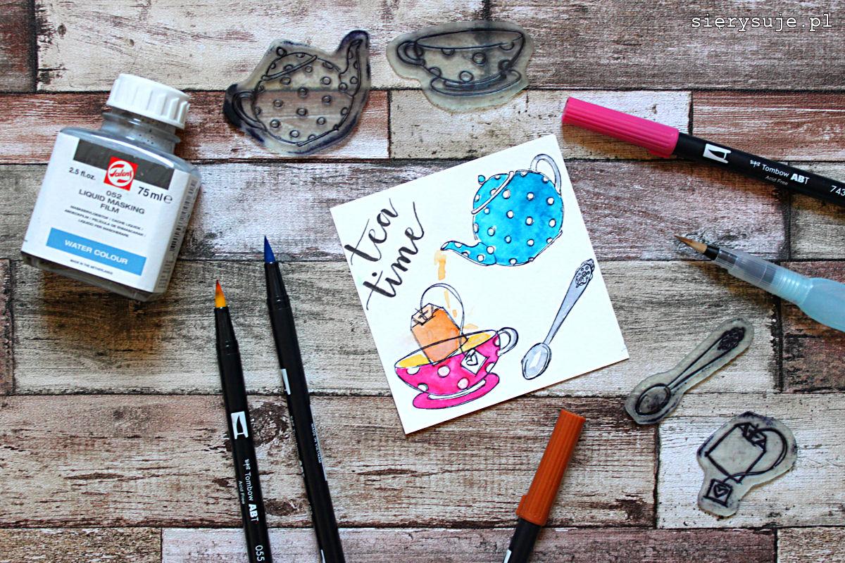 sierysuje.pl kolorowe brush peny kolorowanie stempli