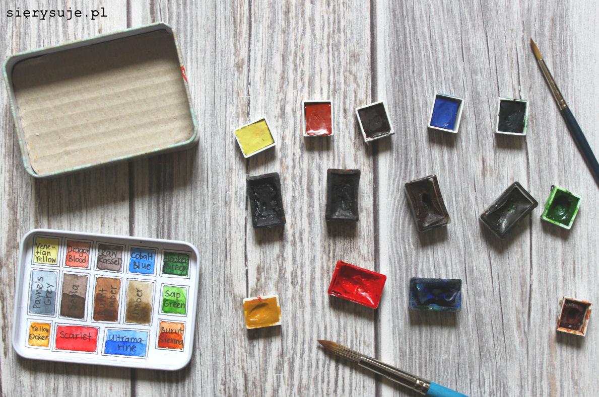 sierysuje.pl pudełko na akwarele w czym trzymać farby