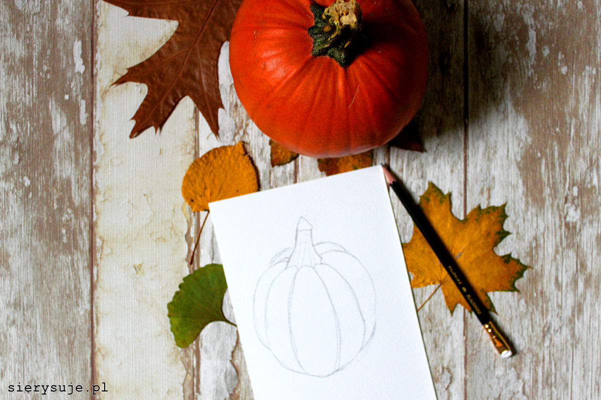 sierysuje.pl jak rysować dynię