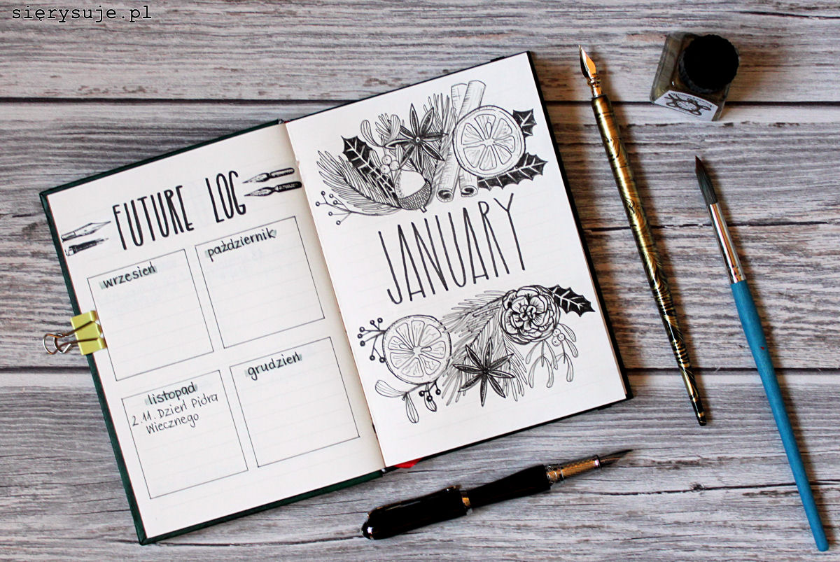 sierysuje.pl jak zrobić bujo bullet journal