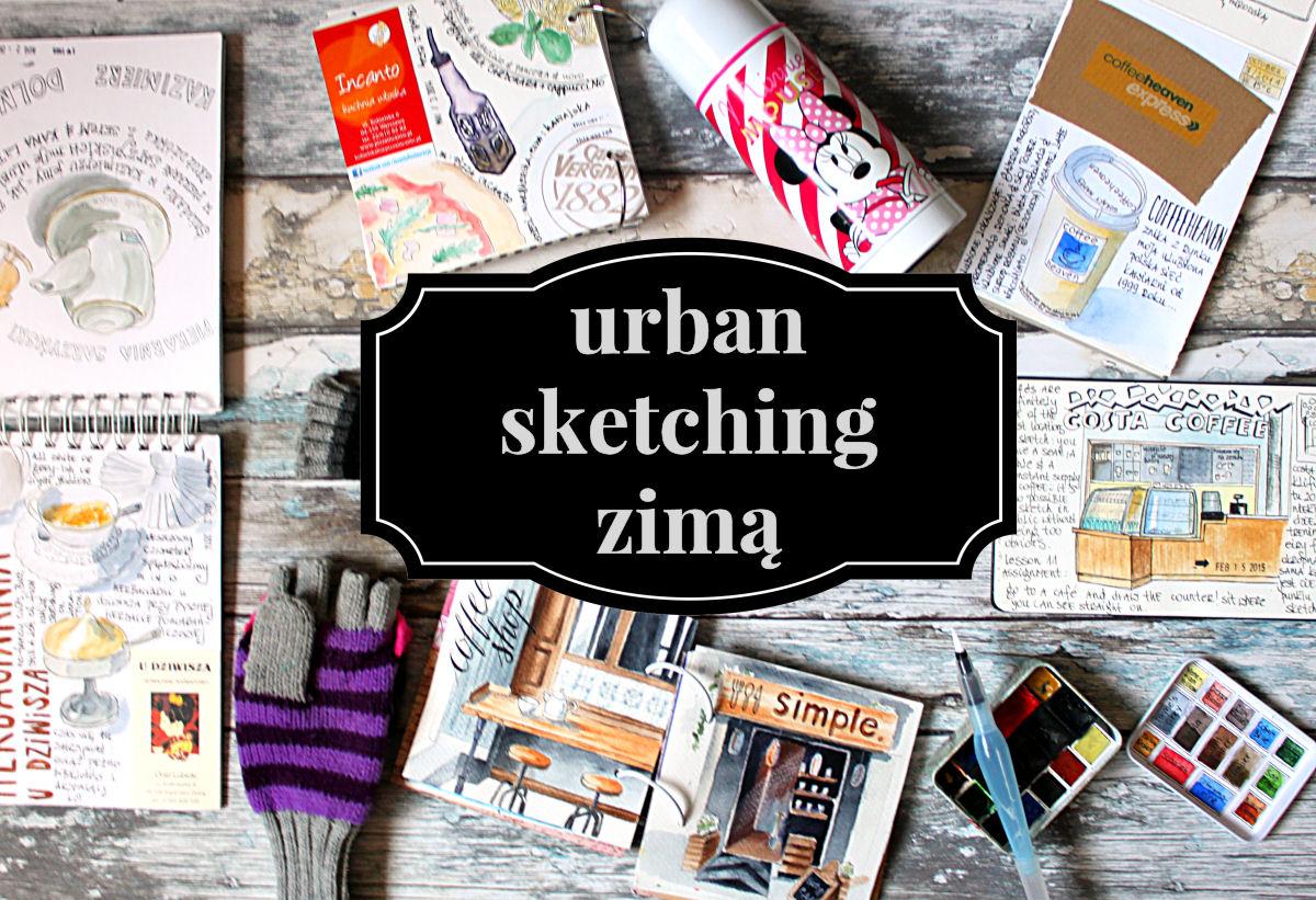 sierysuje.pl urban sketching zimą