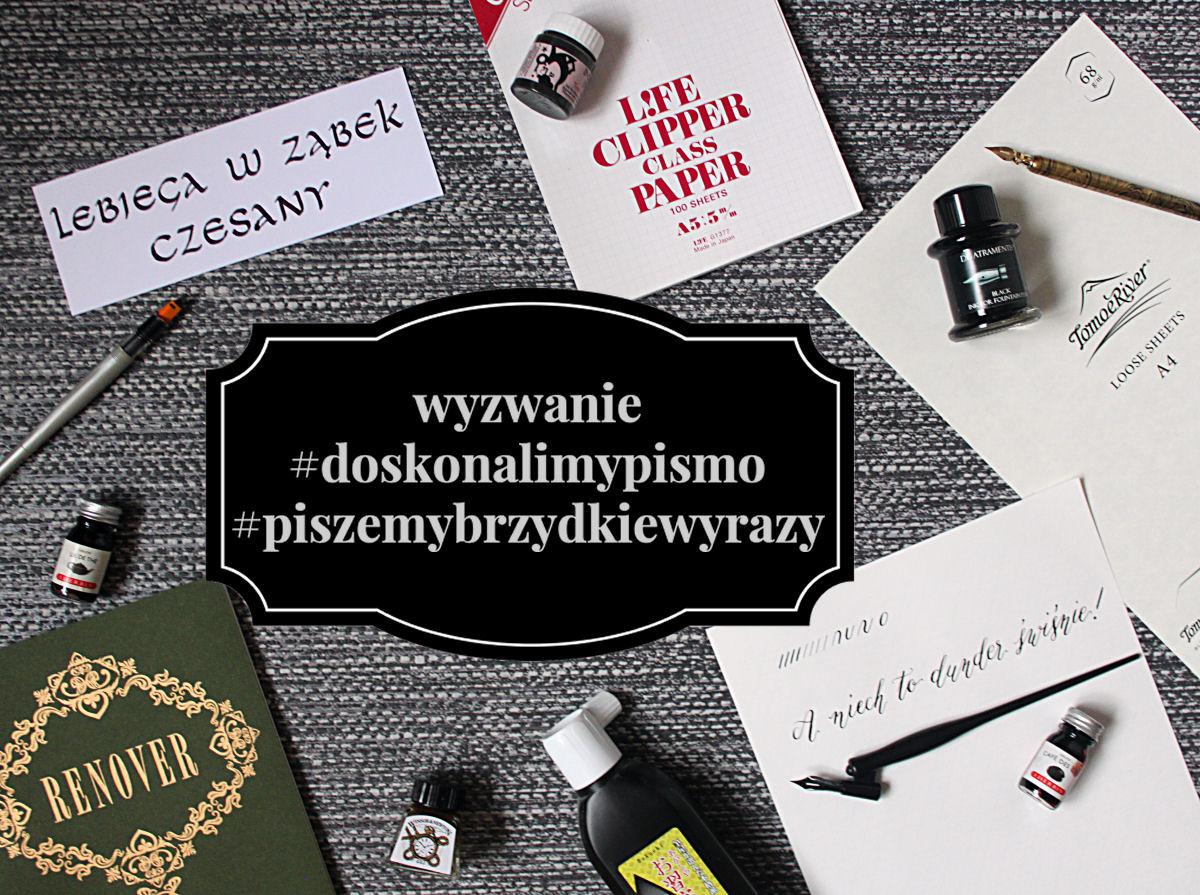 sierysuje.pl wyzwanie #piszemybrzydkiewyrazy #doskonalimypismo