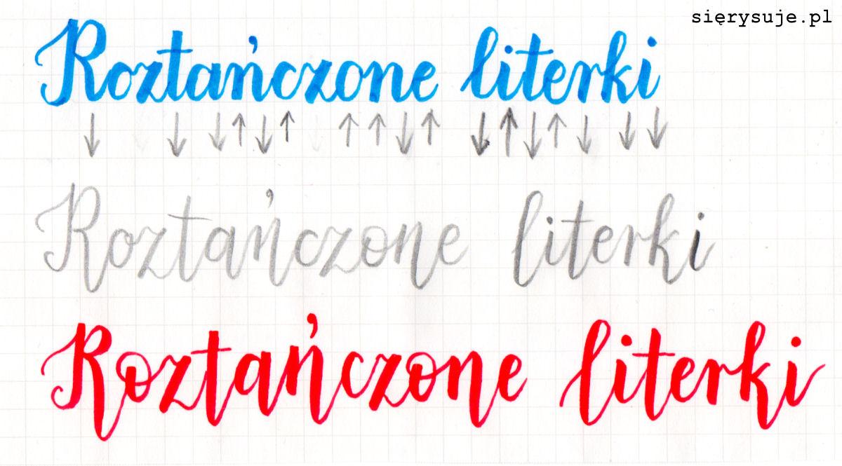 sierysuje.pl bounce calligraphy kaligrafia