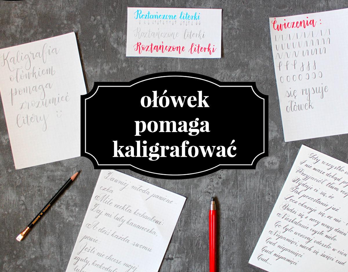 sierysuje.pl kaligrafia ołówkiem