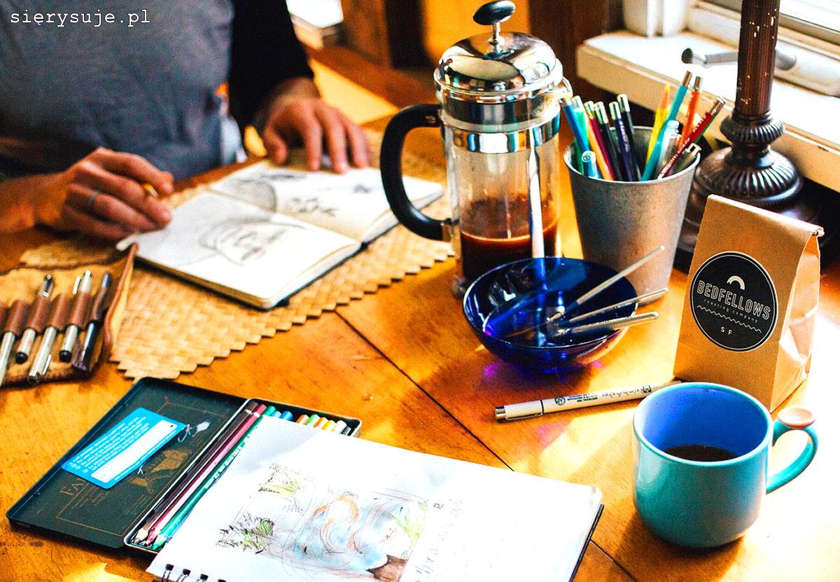 sierysuje.pl malowanie kawą urban sketching