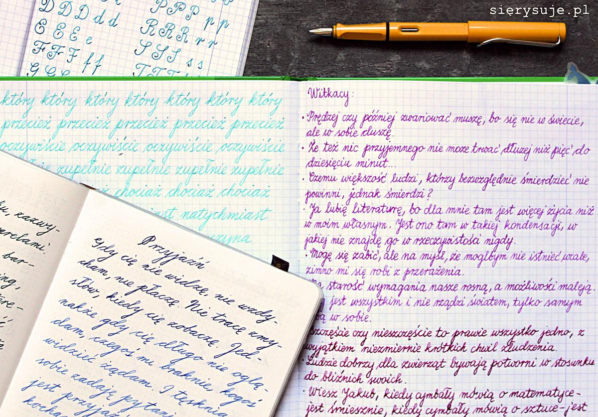 sierysuje.pl kursywa pismo
