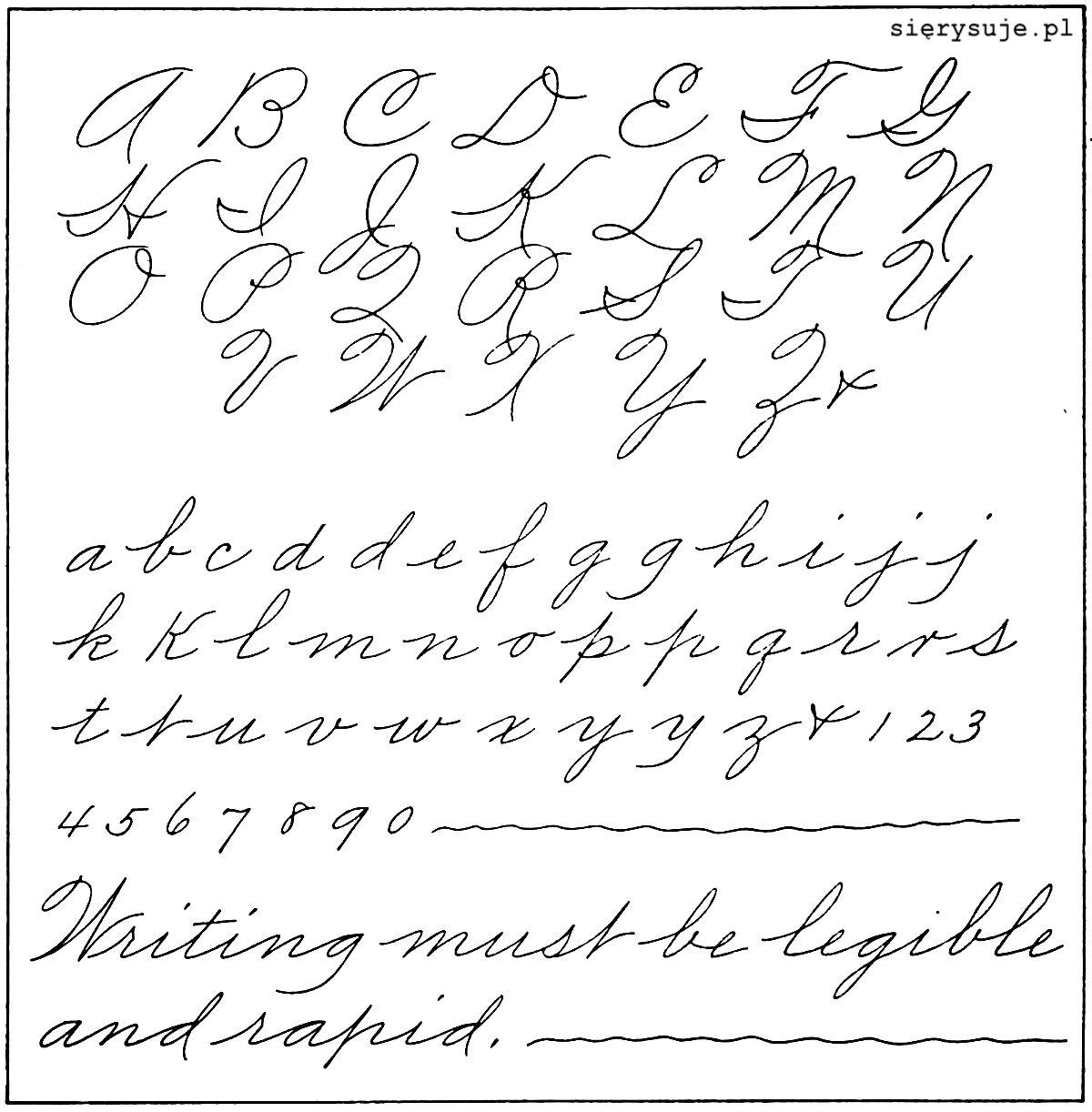 sierysuje.pl metoda Palmera pismo