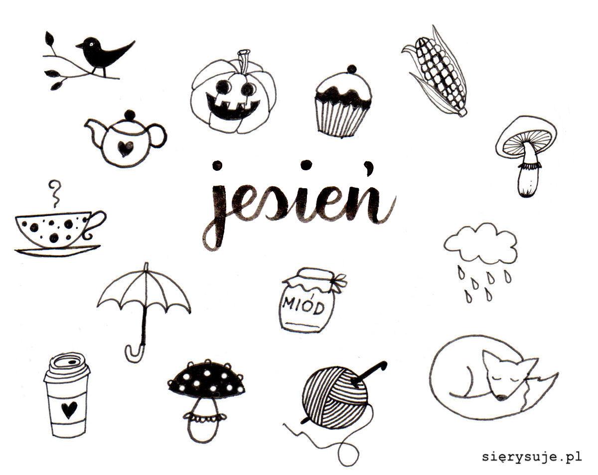 sierysuje.pl jesienny wianek doodle tutorial