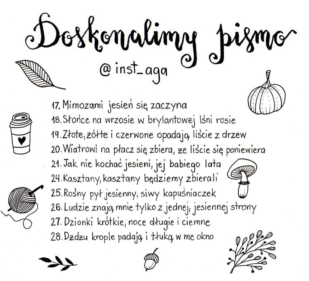 sierysuje.pl wyzwanie jesienne #doskonalimypismo hasła
