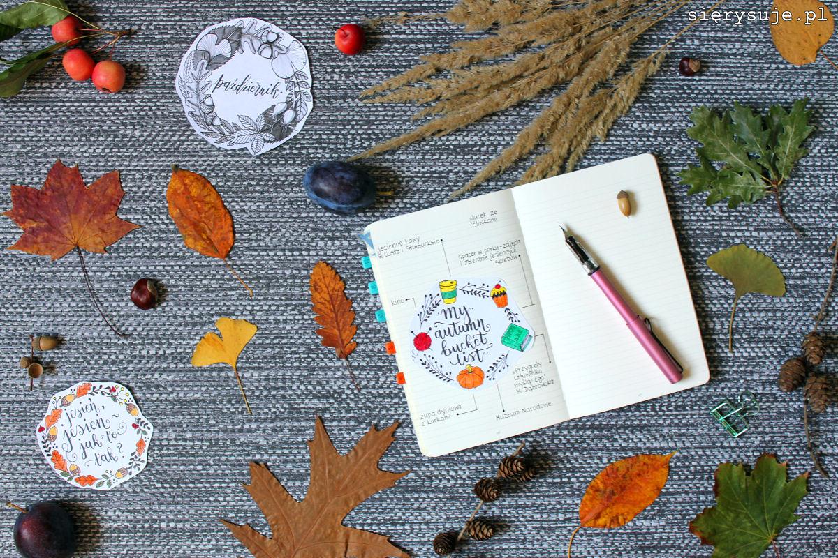 sierysuje.pl jesienny wianek rysowanie bullet journal