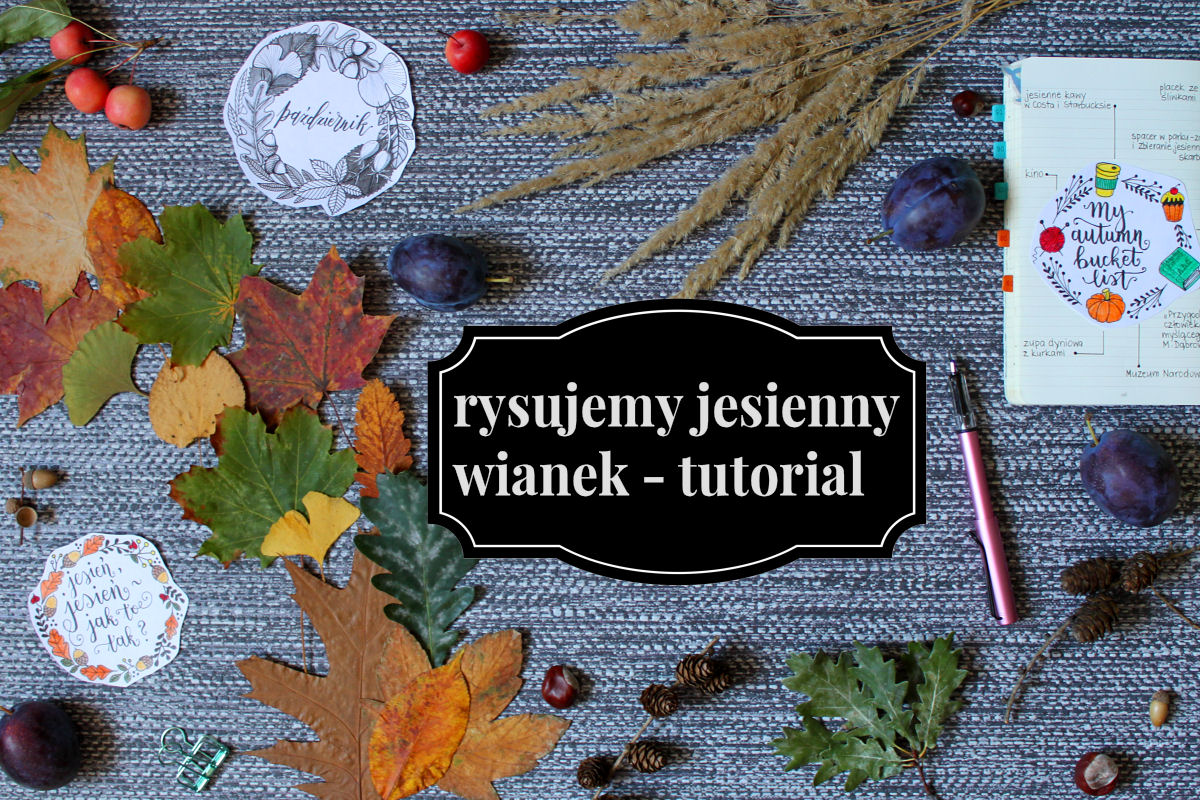 sierysuje.pl jesienny wianek tutorial