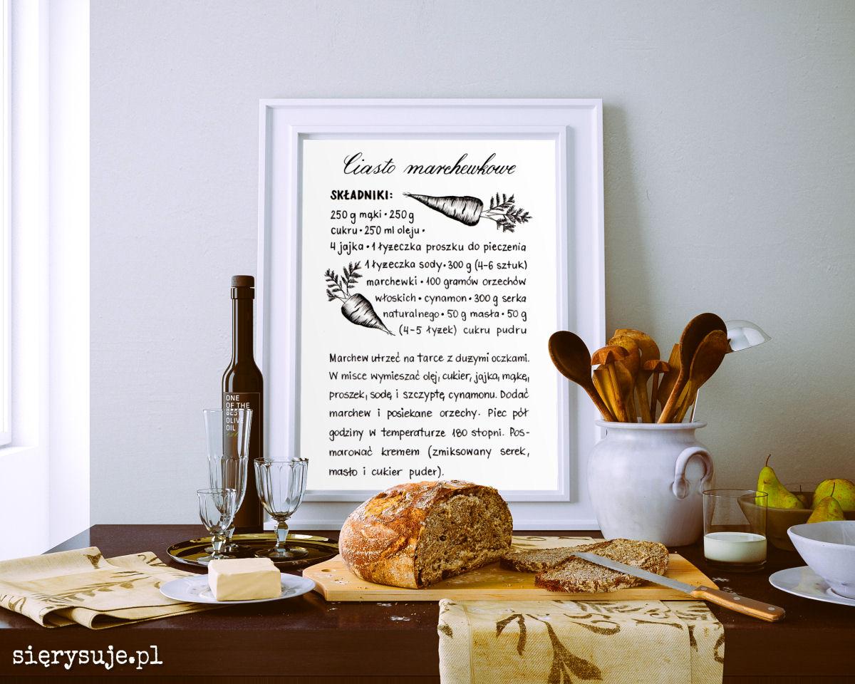 sierysuje.pl ilustrowany przepis ciasto marchewkowe