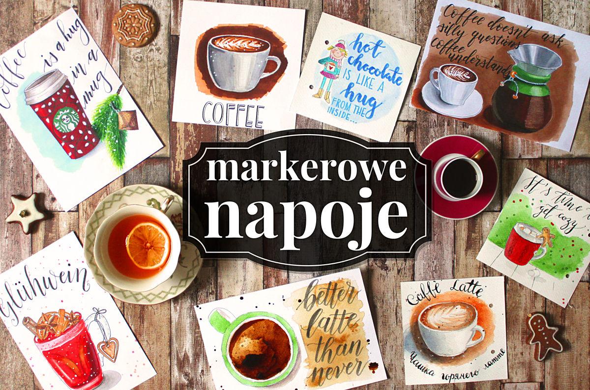 sierysuje.pl napoje markerami herbata kawa kakao grzaniec