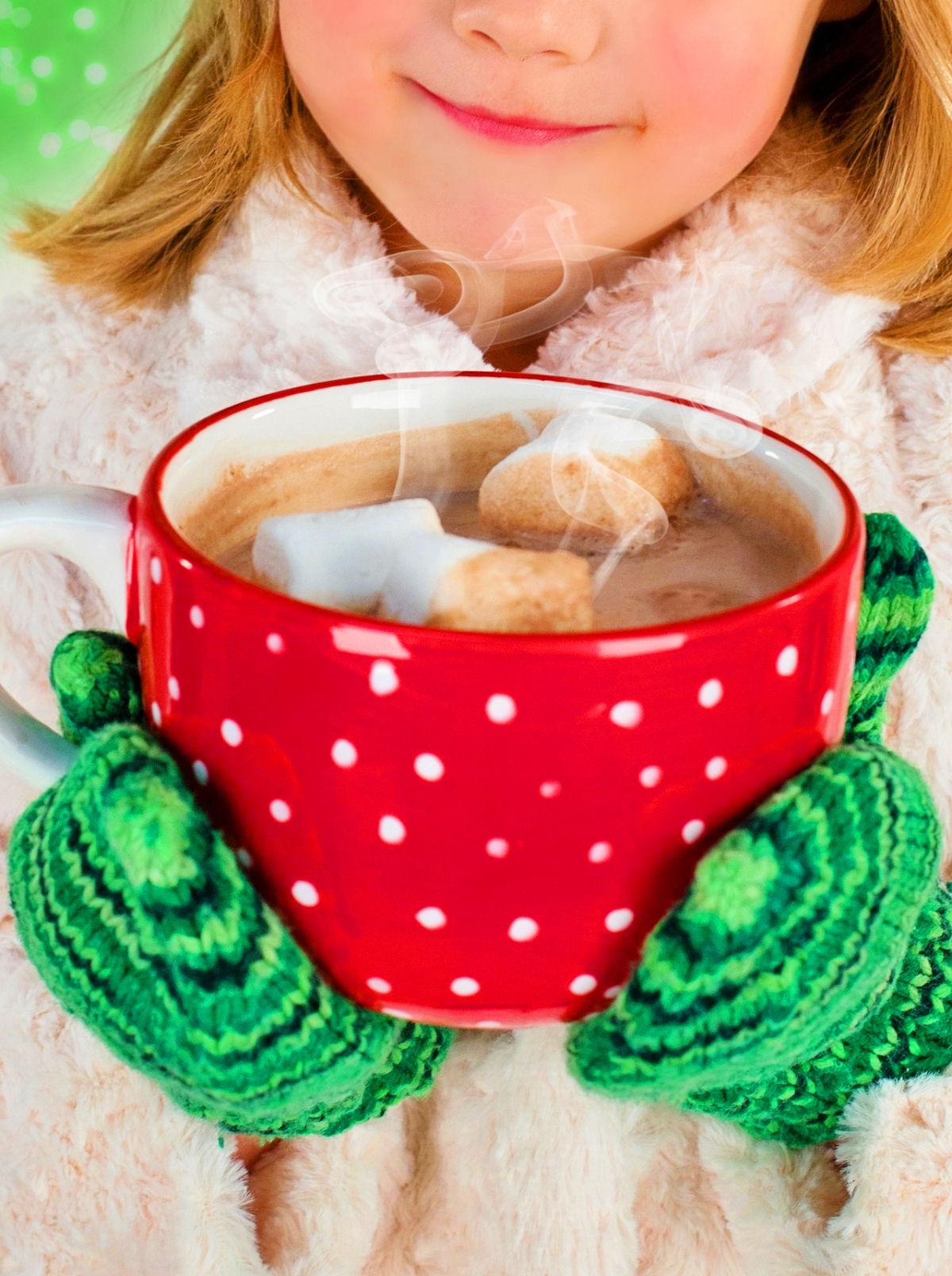 sierysuje.pl gorące kakao z piankami marshmallow
