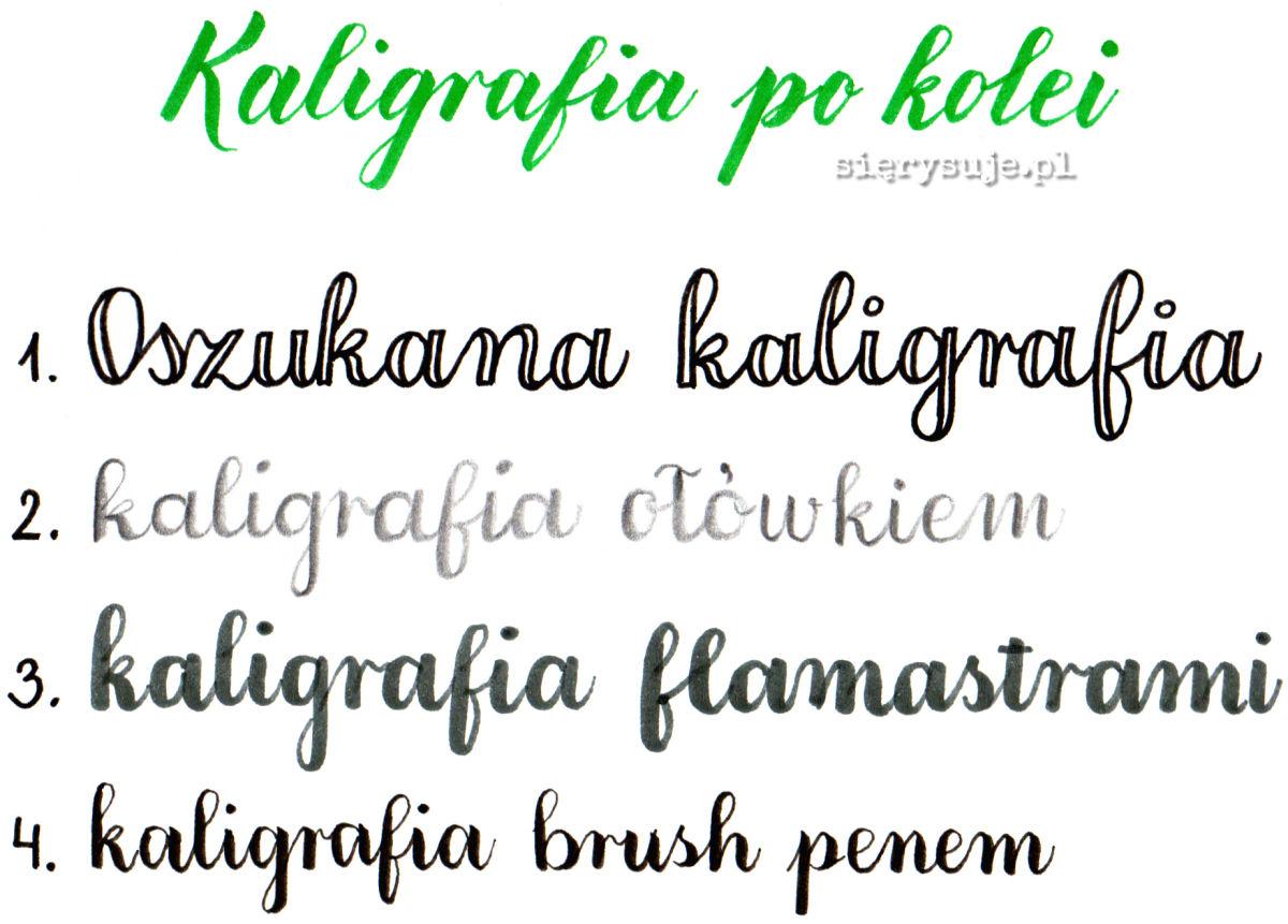 sierysuje.pl brush lettering brush peny