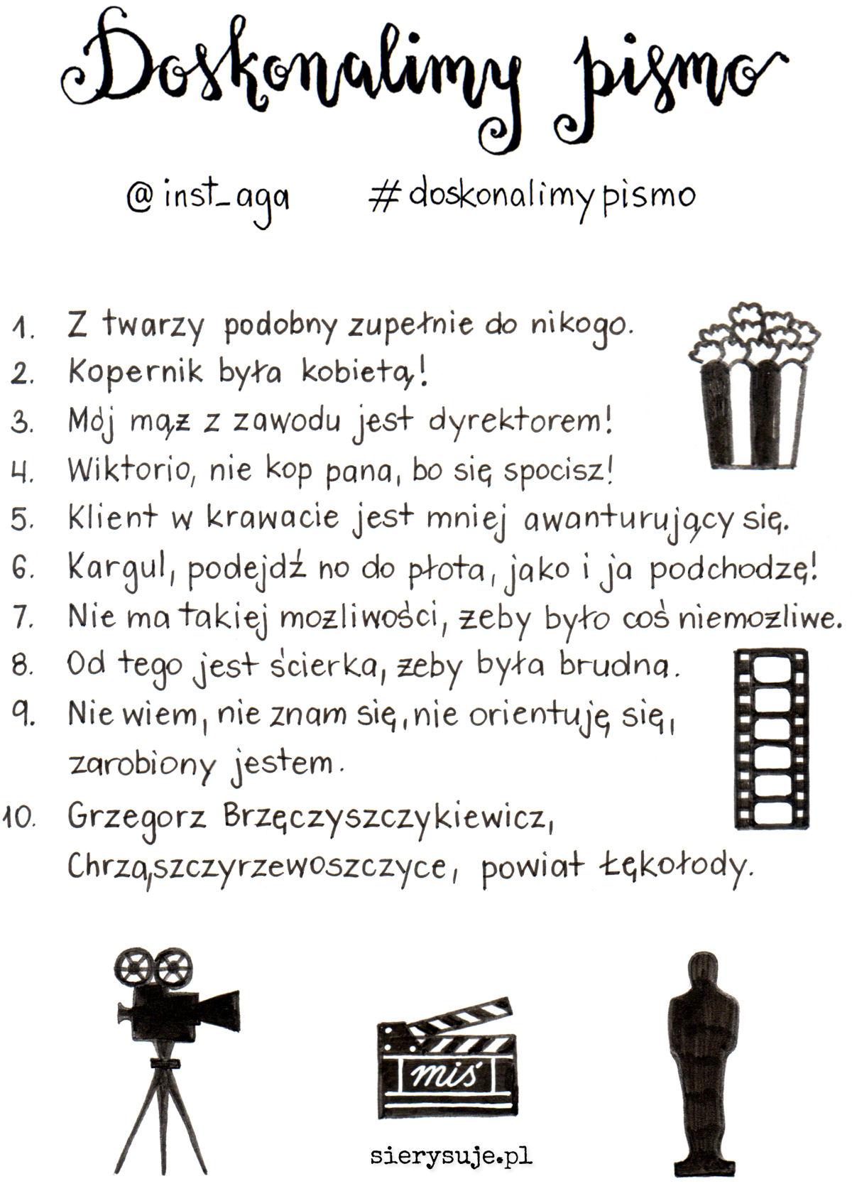 sierysuje.pl wyzwanie #doskonalimypismo