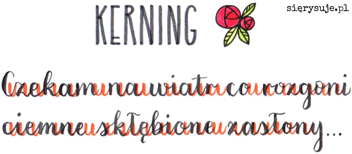 sierysuje.pl brush lettering kerning