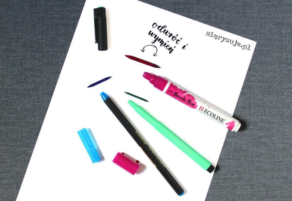 sierysuje.pl brush pen czy da się naprawić