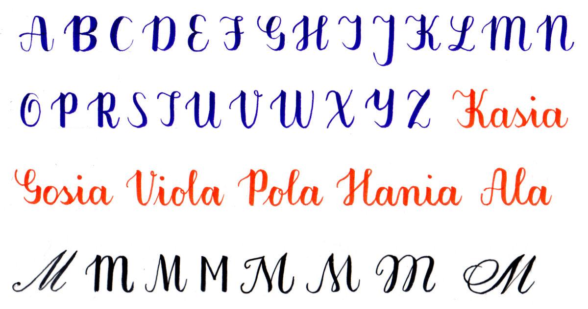 sierysuje.pl duże litery kaligrafia nowoczesna